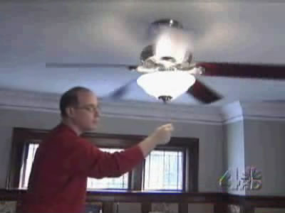 Cool off with a ceiling fan during the warm summer months